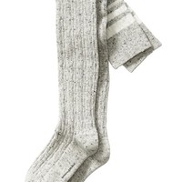 Banana Republic Cable Stripe Over The Knee Sock Size One Size - Light gray heather