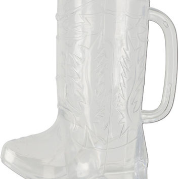 western plastic cowboy boot mug - 17 oz. Case of 12