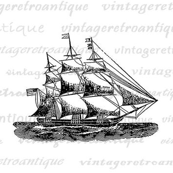 Digital Graphic Ship Image Download Printable Artwork Vintage Clip Art Jpg Png Eps  HQ 300dpi No.2991