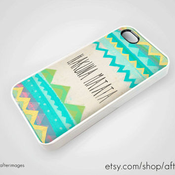 Hakuna Matata iPhone 5 4 4S Case iPhone 4 Tribal by afterimages