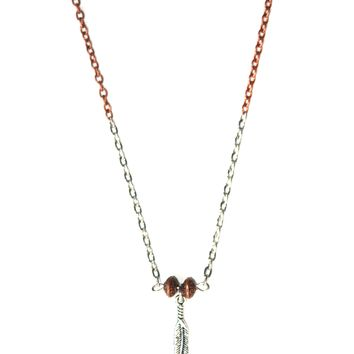 Wild Dreamer Tribal Feather Necklace