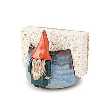 Gnome Sponge Holder | cute decor, kitchen decor, handmade gifts, problem solver