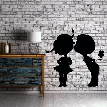 Kiss Kissing Couple Romantic Love Kids Flower Decor For Pop Art Bedroom Unique Gift (z2579)