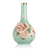 Franz Porcelain Elegance Cotton Rose Vase