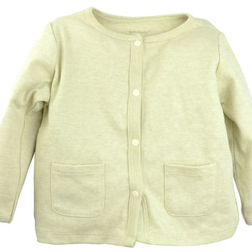Long Sleeve Button Cardigan - Olive