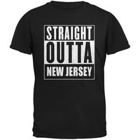 Straight Outta New Jersey Black Adult T-Shirt