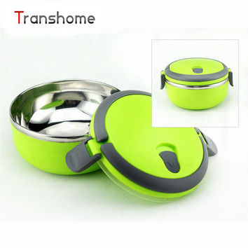 TRANSHOME Stainless Steel Thermal Bento Lunch Box Thermos For Food Stainless Food Containers Children's Lunch Box
