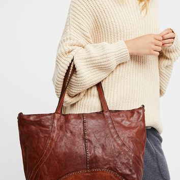 Free People Sardinia Leather Tote