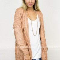 Cozy Knit Cardigan | Rust