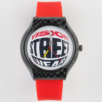 Vision Street Wear Classic Logo Watch Black/Red One Size For Men 22168912601