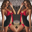 New sexy lingerie female charm of midnight transparent breathable sexy pajamas nightclub underwear erotic lingerie costumes (Color: Black) = 1932509252