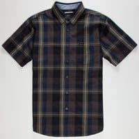 Rvca Coastline Mens Shirt Black  In Sizes
