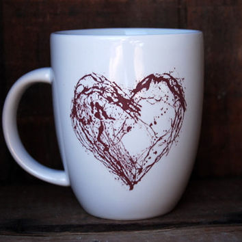 Coffee mug - abstract heart