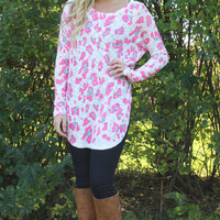 Pink Leopard Tunic Top