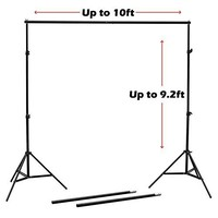 Nulink 10FT Professional Photography Video Photo Adjustable Muslin Backdrop Support Stand Kit with Crossbar & Carry Bag