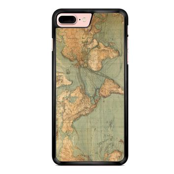 Vintage World Map iPhone 7 Plus Case