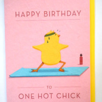 Hot Chick Birthday Greeting Card