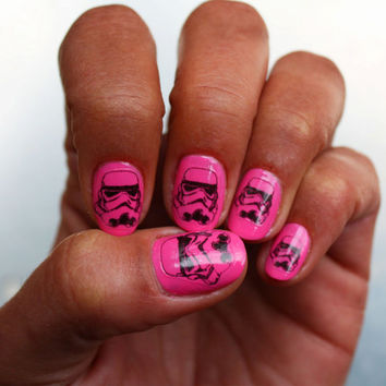 Stormtrooper Nail Art Decals by NailSpin on Etsy