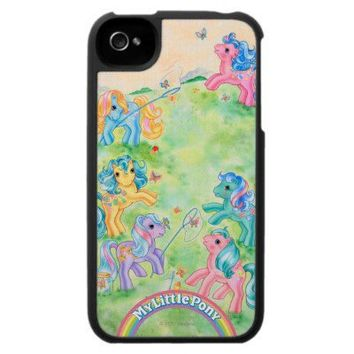 Ponies Catching Butterflies Case For The Iphone 4 from Zazzle.com