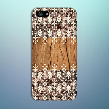 Brown Wood x Granite Flower Pattern Phone Case for iPhone 6 6 Plus iPhone 5 5s 5c 4 4s Samsung Galaxy s6 s5 s4 & s3 and Note 5 4 3 2