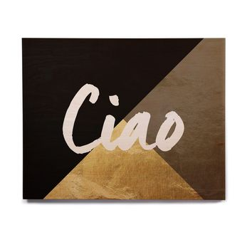 "KESS Original ""Ciao"" Birchwood Wall Art"
