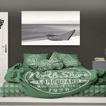 Surfer Bedding Green North Shore Surf Sheet Set
