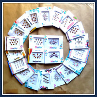 20 Bindi packets - Bollywood Bindis- Bellydance Bindis - Bindi tattoos - Bindis stickers S20