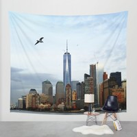 New York Wall Tapestry by Haroulita | Society6