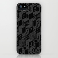 SUPER MARIO BLOCK-OUT! iPhone & iPod Case by Jango Snow