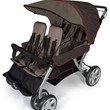 Foundations Quad Lx 4-Passenger Stroller Taupe/Red - 4140167
