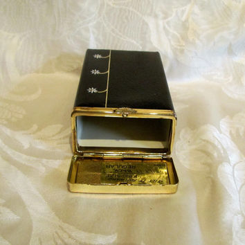 Vintage Cigarette Case Kings 100's And Regular Cigarettes Black Buxton Leather Case 1970s Cigarette Case Womens Case