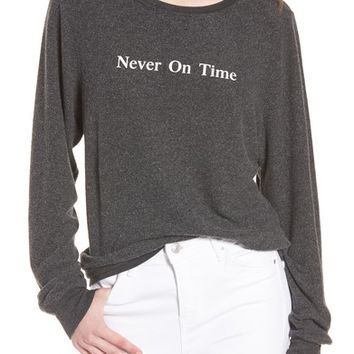 Wildfox Never on Time Baggy Beach Jumper Pullover   Nordstrom