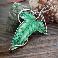 Lord of the Rings Elven Leaf Necklace