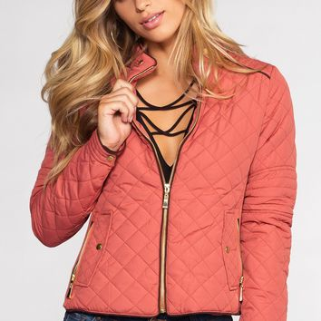Adalynn Quilted Jacket - Dusty Pink