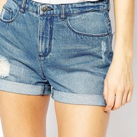 JDY | JDY Distressed Denim Shorts at ASOS