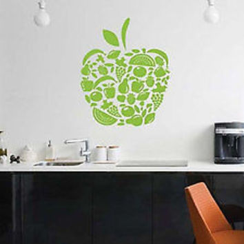 Apple Fruit Kitchen Decoration Sticker Wall Kitchen Cooking Decal Vinyl tr1840
