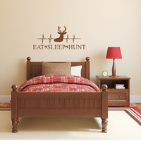 Eat Sleep Hunt Boys Room Wall Decal Hunting Decor, Boy, Nursery, Antlers, Boys Room, Hunting Nursery, Boys Room Decor, Nursery, Heartbeat