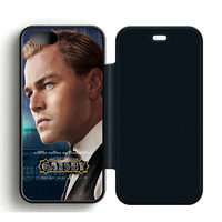 The Great Gatsby Leonardo DiCaprio Leather Wallet Flip Case iPhone 5 | 5S