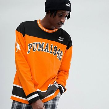Puma Hockey Sweat In Orange Exclusive To ASOS at asos.com