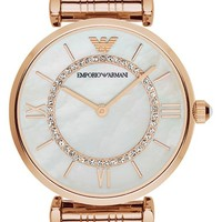 Men's Emporio Armani Bracelet Watch, 32mm - Rose Gold
