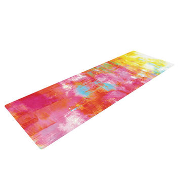 "Ebi Emporium ""Off The Grid III"" Pink Yellow Yoga Mat"