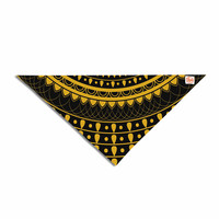 "Famenxt ""Golden Vibes Mandala"" Gold Black Digital Pet Bandana"