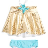 Love U Lots Starfish Two-Piece Swimsuit (Toddler Girls & Little Girls) | Nordstrom