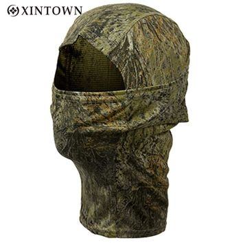 Bionic Camouflage Full Face Mask Quick-dry Hood Hunting Fishing Scarf Balaclava Outdoor Cycling Hiking Warm Face Mask Hat
