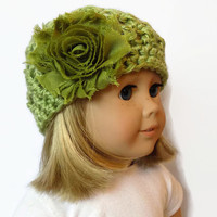 18 Inch Doll Hat AG Doll Beanie Doll Clothes Green