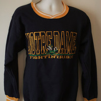 Vintage Notre Dame Sweatshirt Deadstock Unworn Fighting Irish Crewneck College Football 70s 80s 90s Made in USA Size Small
