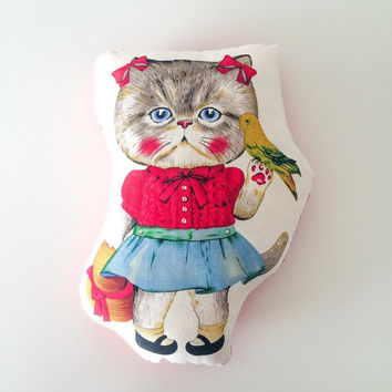 Free shipping, cat pillow, stuffed cat, kids pillow