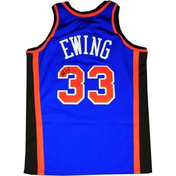 CREYONY Patrick Ewing Signed Autographed New York Knicks Basketball Jersey (Steiner COA)