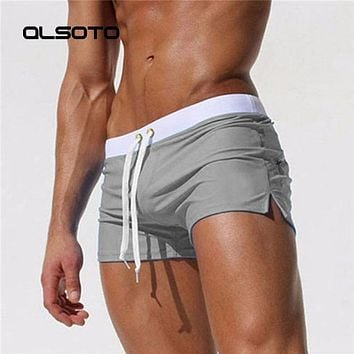 ALSOTO New Men Swimwear Sexy swimming trunks sunga hot swimsuit mens swim briefs Beach Shorts mayo sungas de praia homens