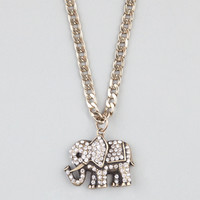 FULL TILT Rhinestone Elephant Necklace 240282621 | Necklaces